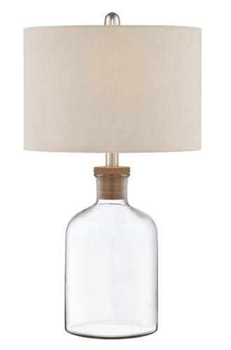Patriot Lighting Carrie 1 Light 24 5 H Fillable Clear Glass Table Lamp Carrie