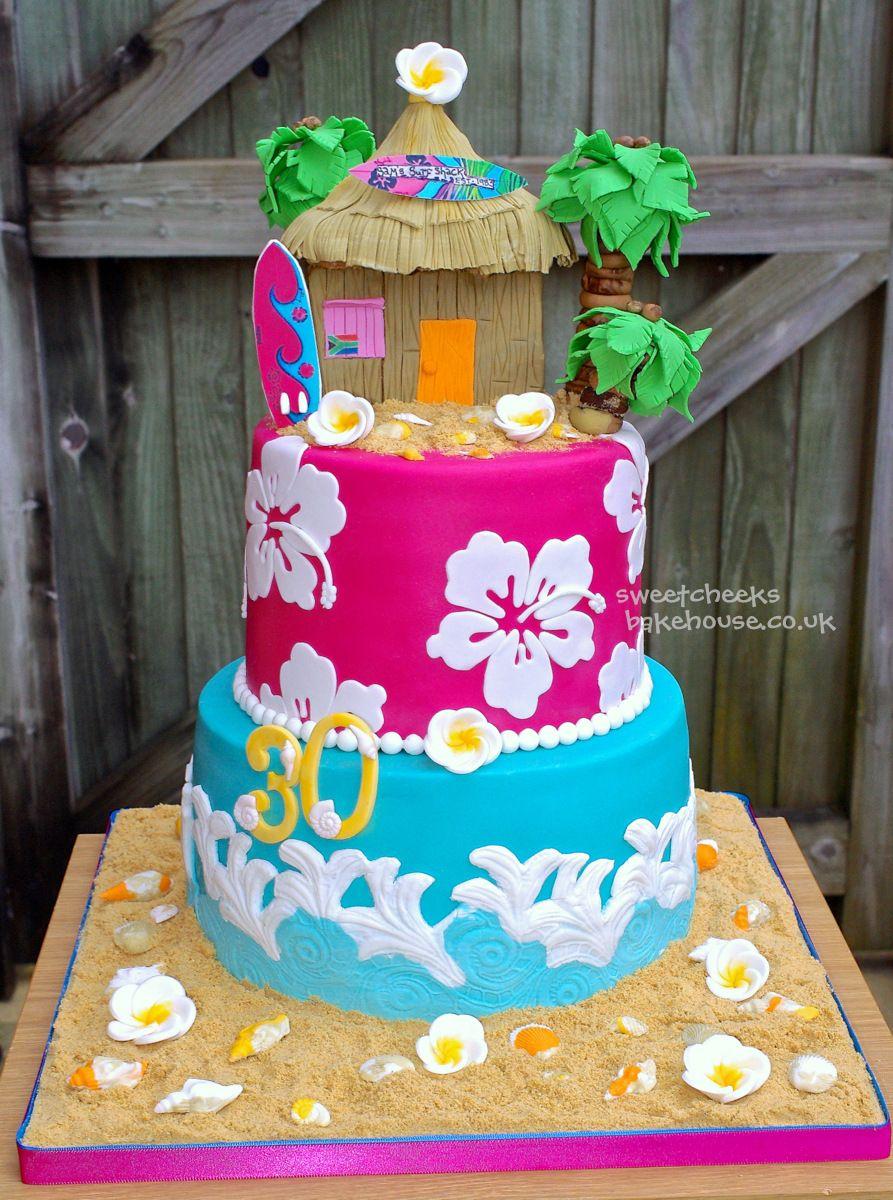 Hawaii Cake Home Cakes For The Ladies Hawaii Beach Cake
