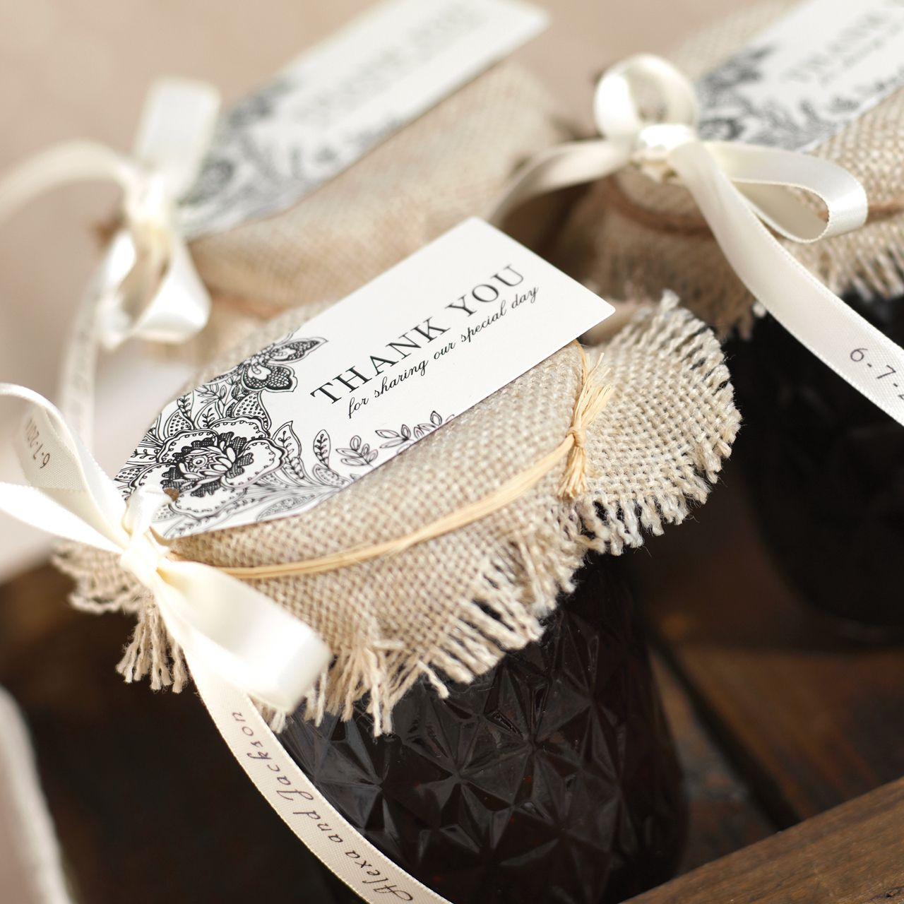 Dress up your homemade treats with burlap! | Rustic Glam Wedding ...