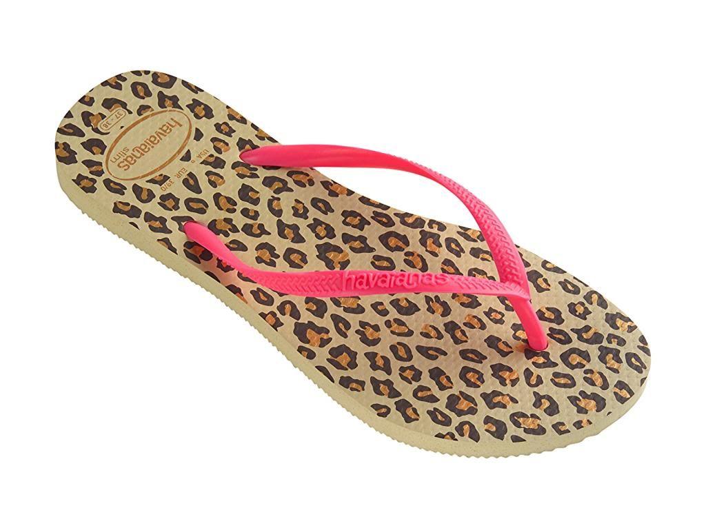 Havaianas Women`s Flip Flops SALE Slim Animals Sandals Sand Grey Sizes 5-12  NWT