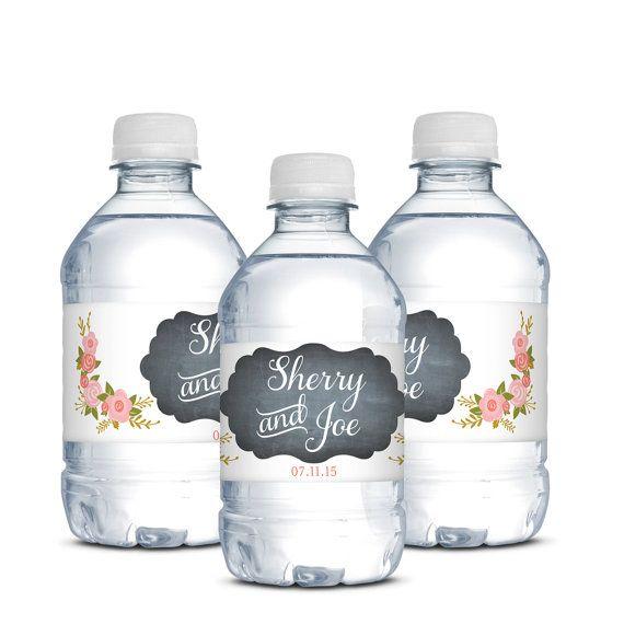 Wedding Branding Ideas: Wedding Water Bottle Labels,Chalkboard,Waterproof Label