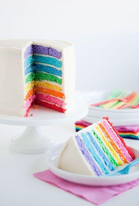 Rainbow Wedding Cakes On Pinterest Rainbow Wedding Decorations Gay Wedding