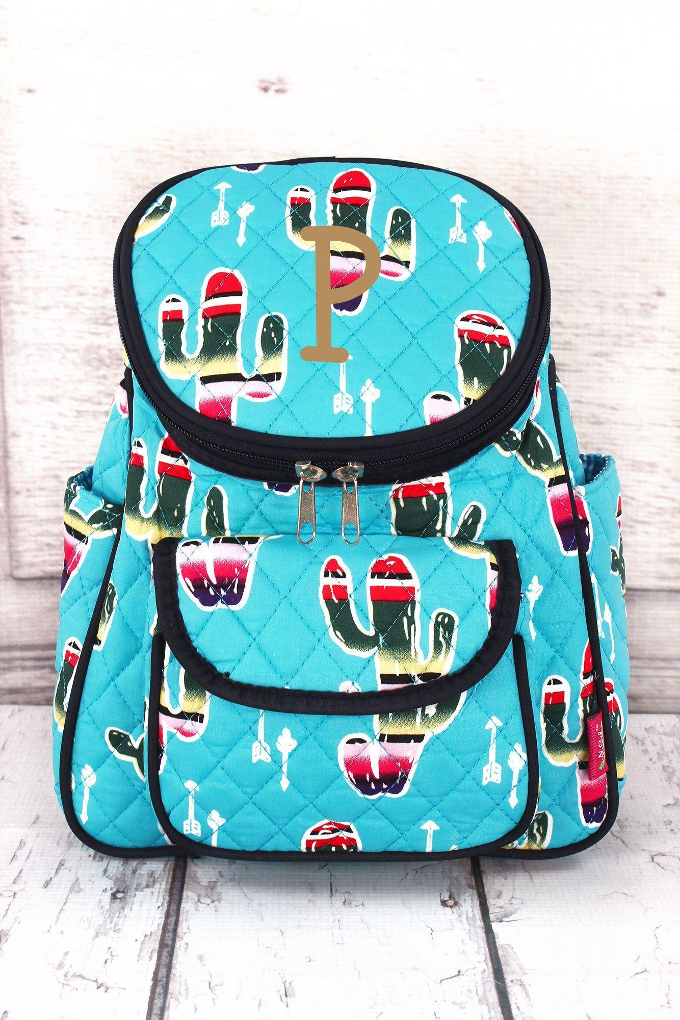 Serape Cactus Quilted Petite Backpack/ Preschool Backpack