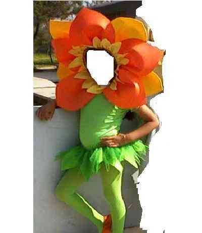 Disfraz En Forma De Flor Disfraz De Girasol Disfraces Para Niños Flores Para Niños