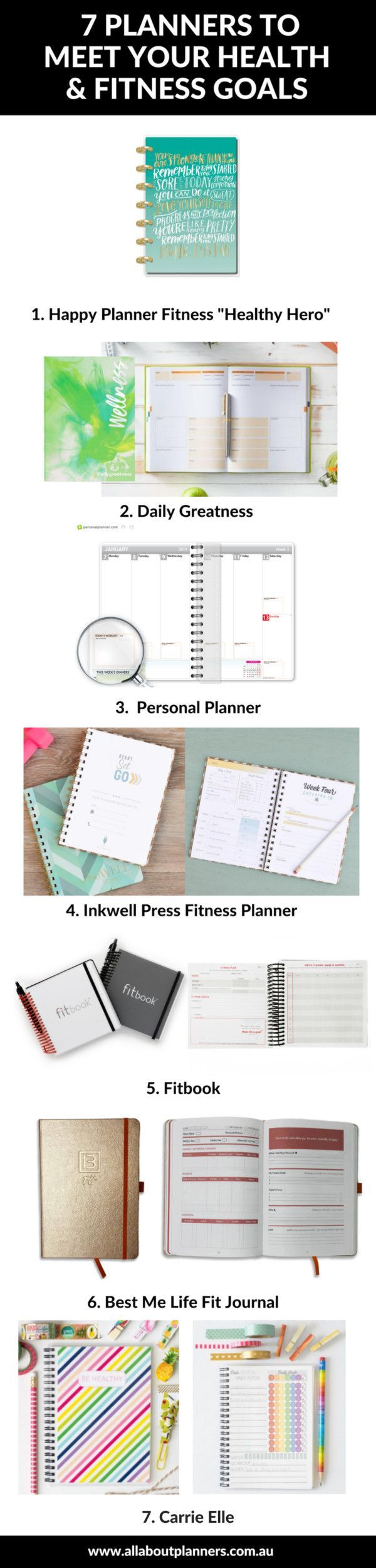 #wellbeing #trackers #exercise #planners #wellness #roundup #planner #fitness #calorie #journal #rev...