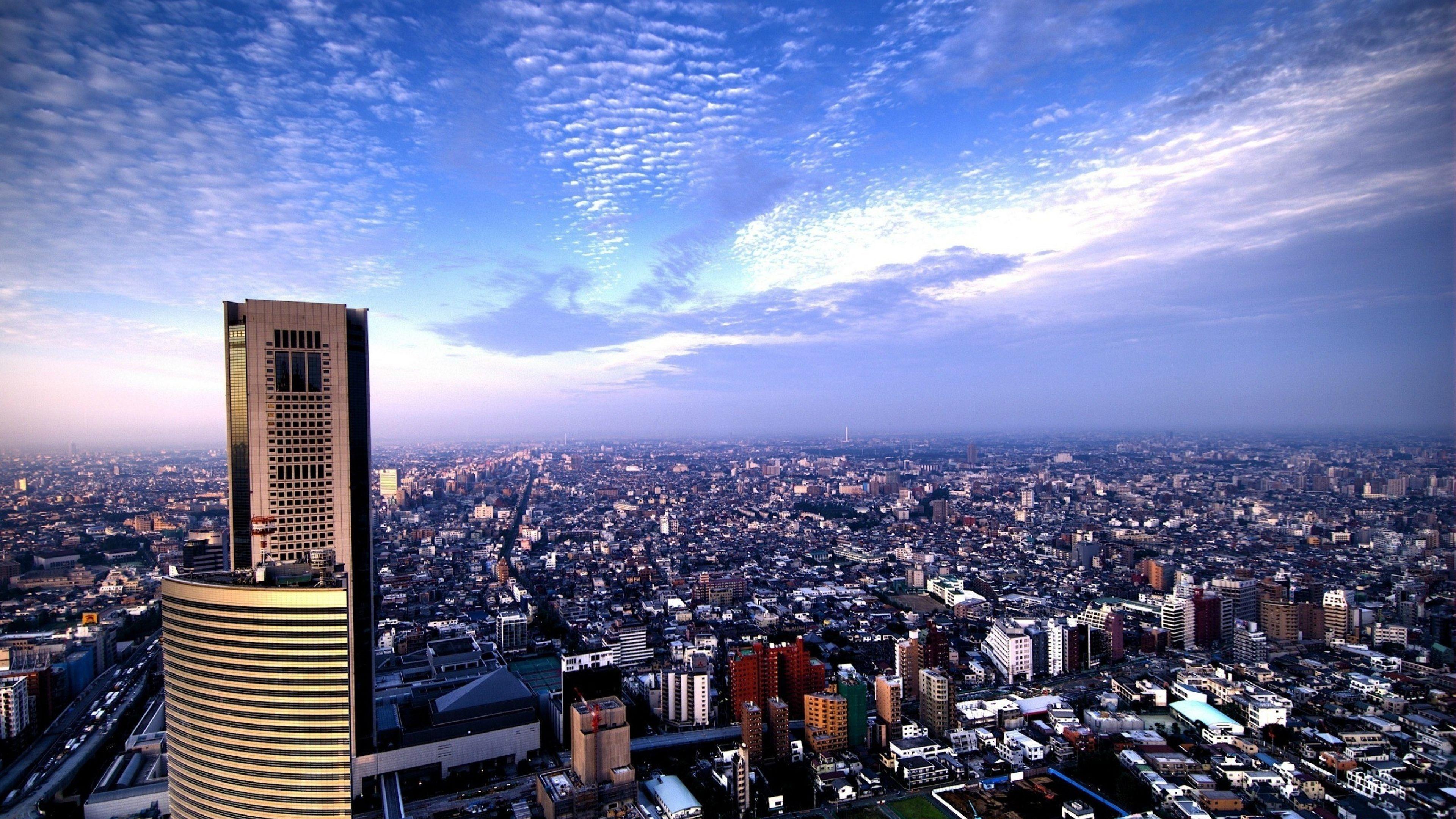 Tokyo City Aerial View 4k Ultra Hd Wallpaper Tokyo City City Wallpaper Detroit City