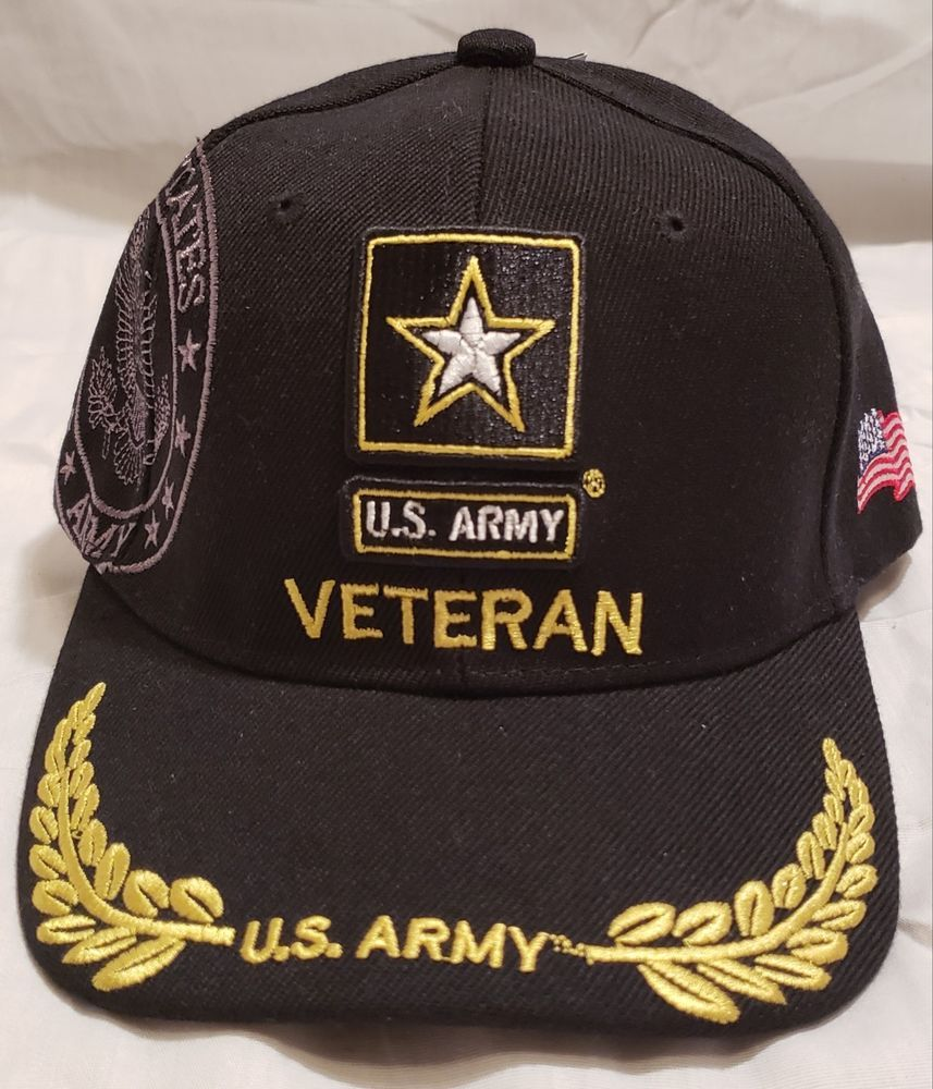 45a49fa608e963 US ARMY STAR veteran BALL CAP ALL BLACK #fashion #clothing #shoes  #accessories #mensaccessories #hats (ebay link)