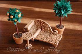 Miniature furniture quilled - by: Cristina-Fun Quilling
