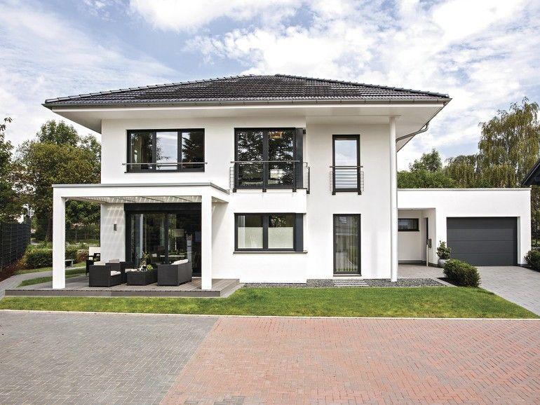 Stunning garage an haus anbauen images kosherelsalvador for Modernes haus mit garage