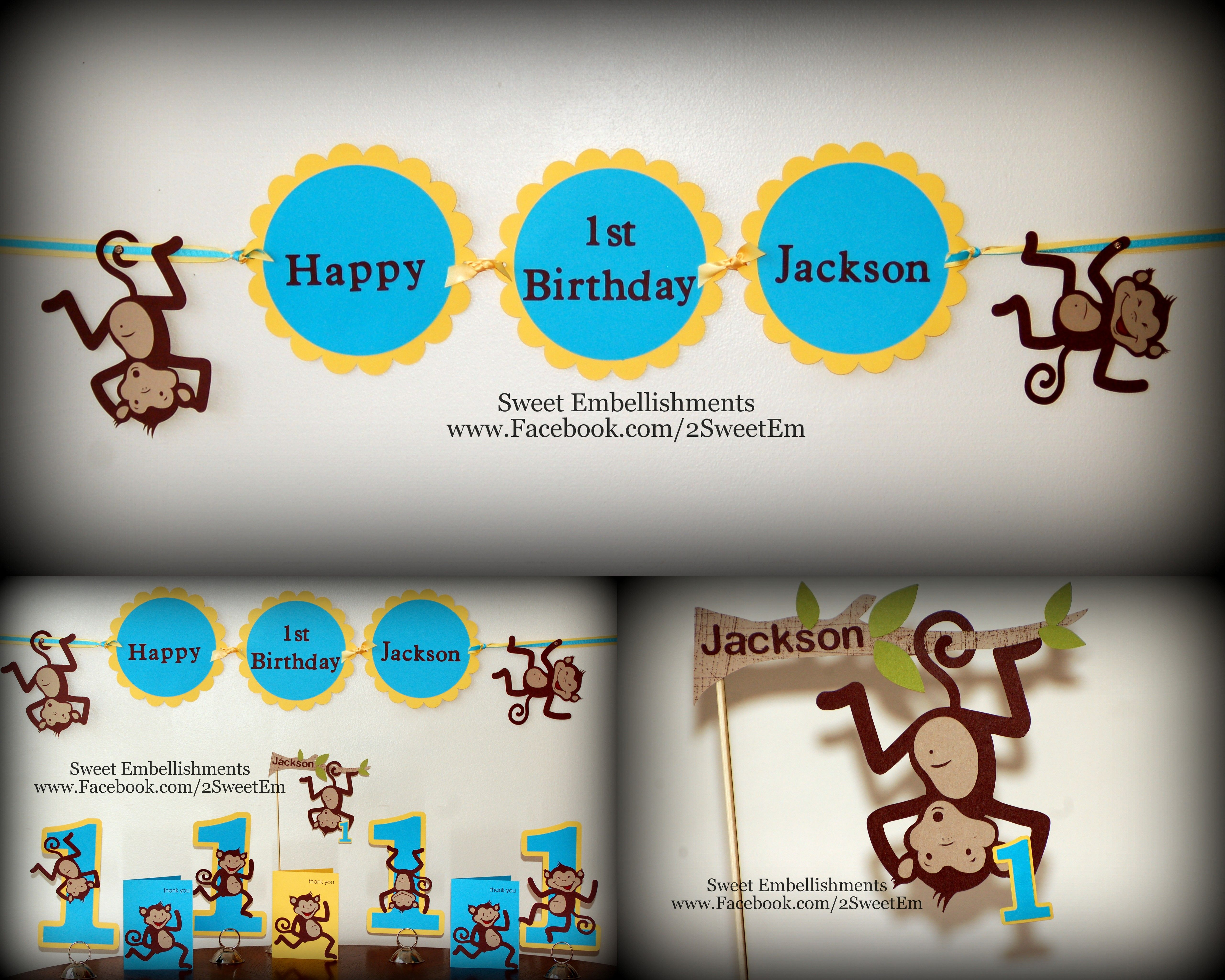 Monkey Theme 1st Birthday Party