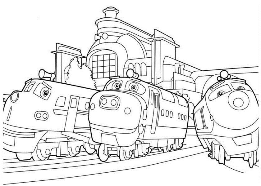 Free Printable Chuggington Coloring Pages For Kids Train Birthday