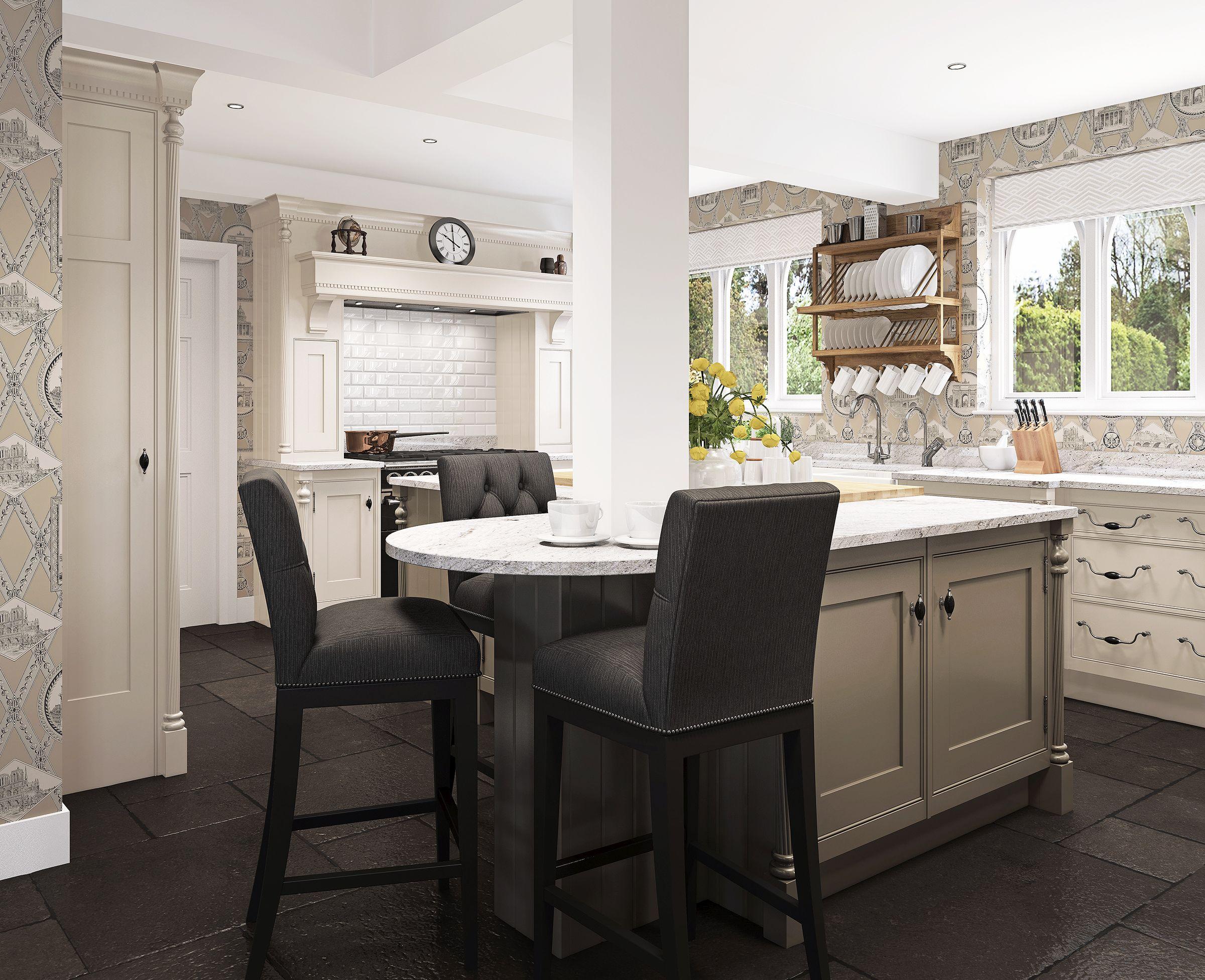 Mark Wilkinson Etruscan kitchen CGI Kitchen, Kitchen