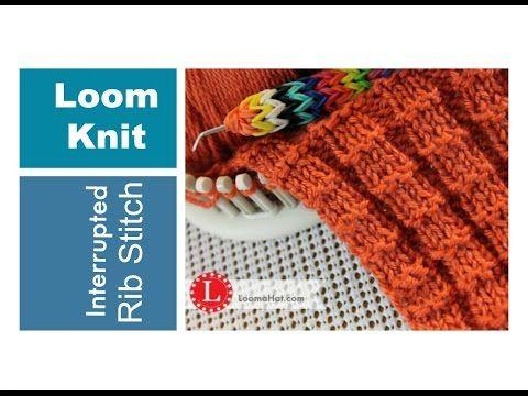 Loom Knitting Stitches The Interrupted Rib Stitch On A Loom