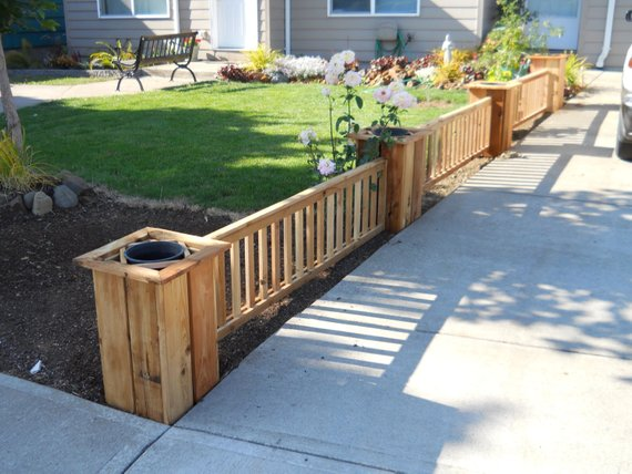Cedar Fence Planter 96 Diy Kit Backyard Fences Fence Planters