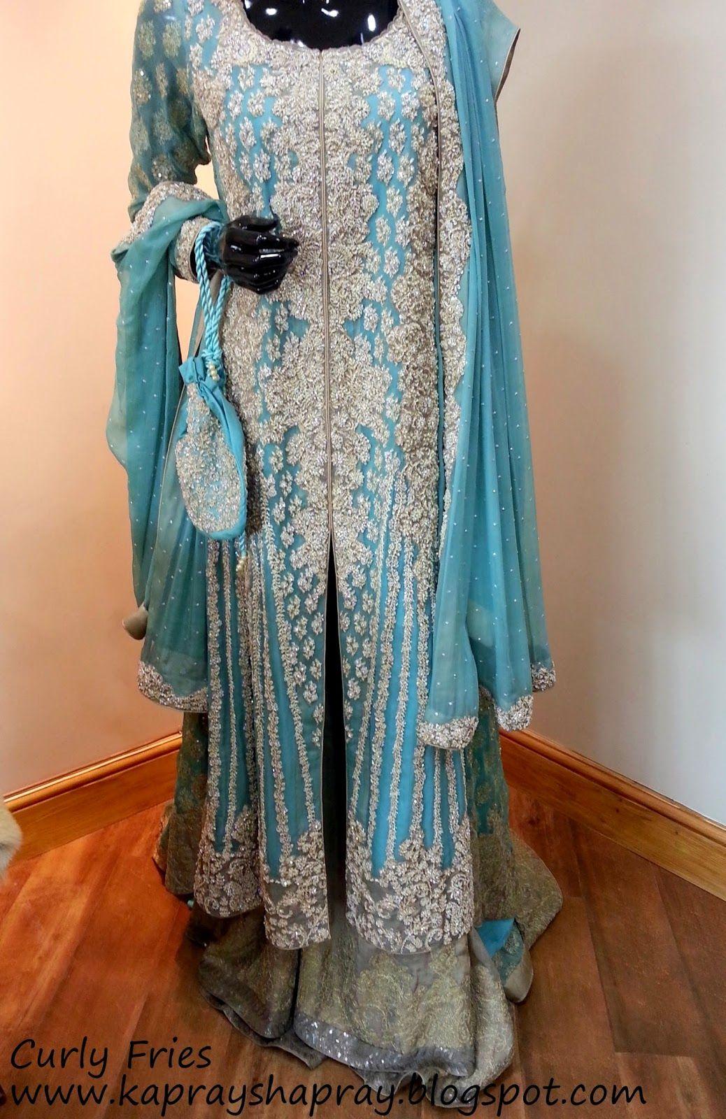 Love this sea blue Sana Safinaz bridal | pakistani gown | Pinterest ...