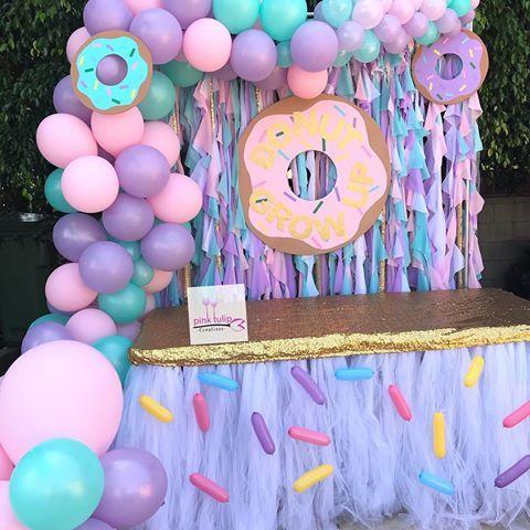 Donut Grow Up Candy Table Setup