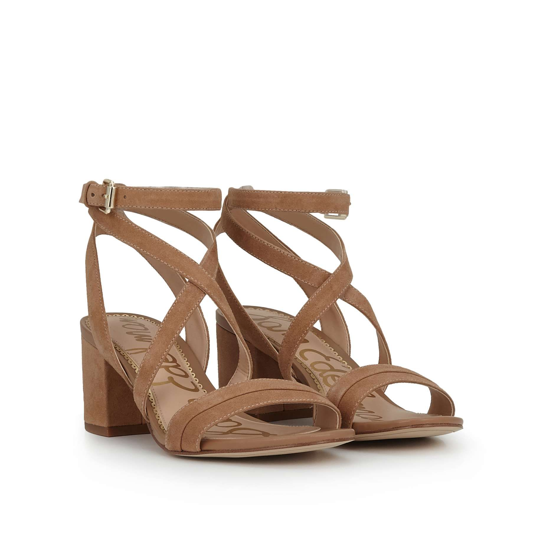36a4a92ad67 Sammy Block Heel Sandal by Sam Edelman - Camel Suede - View 1