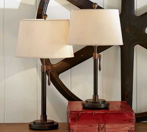 Sutter Adjustable Lever Table Amp Bedside Lamp Base