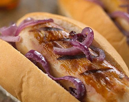 Quorn Meat Free Hot Dogs With Fried Onions Quorn Recipes Recipes Quorn