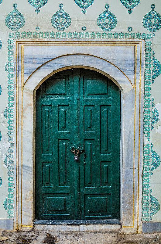 Green door ,Istanbul ,Turkey