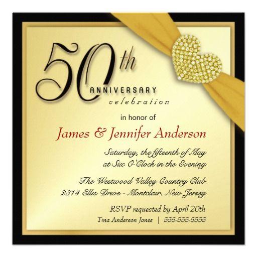 Elegant 50th Anniversary Party Invitations Anniversary party - fresh invitation samples for 50th wedding anniversary