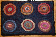 Primitive Rug Hooking Kit SIX PENNY MAT with #8 Cut Wool Strips