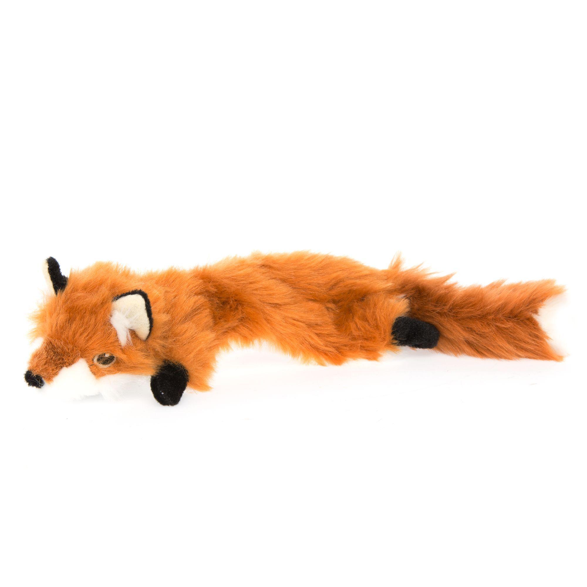 Toys R Us Pets Fox Flattie Dog Toy Crinkle Plush Toys R Us
