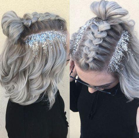41 Glamorous Glitter Root Hairstyles for Festival Season