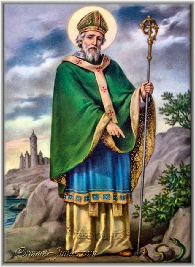 San Patricio Apostol De Irlanda Festividad  De Marzo Atributos Trebol Cruz De San Patricio