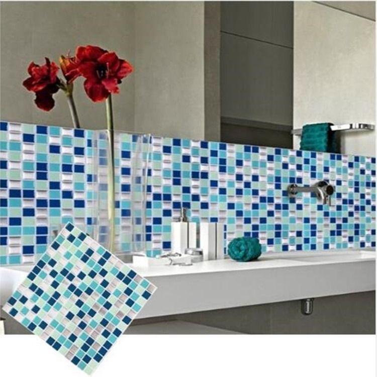 3d Mosaic Tile Sticker 10 Self Adhesive Wall Tiles Wall Tiles