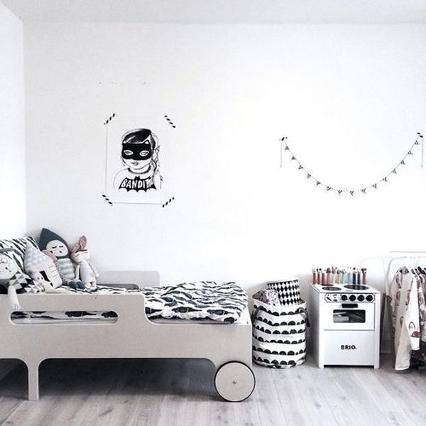 Kids Bedroom Black And White black and white kids room ideas | home design and interior | kid's