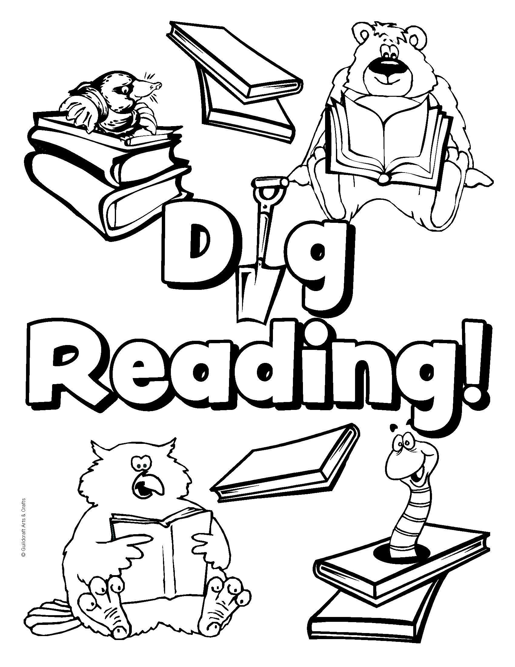 School Library Coloring Pages 5 1700x2200