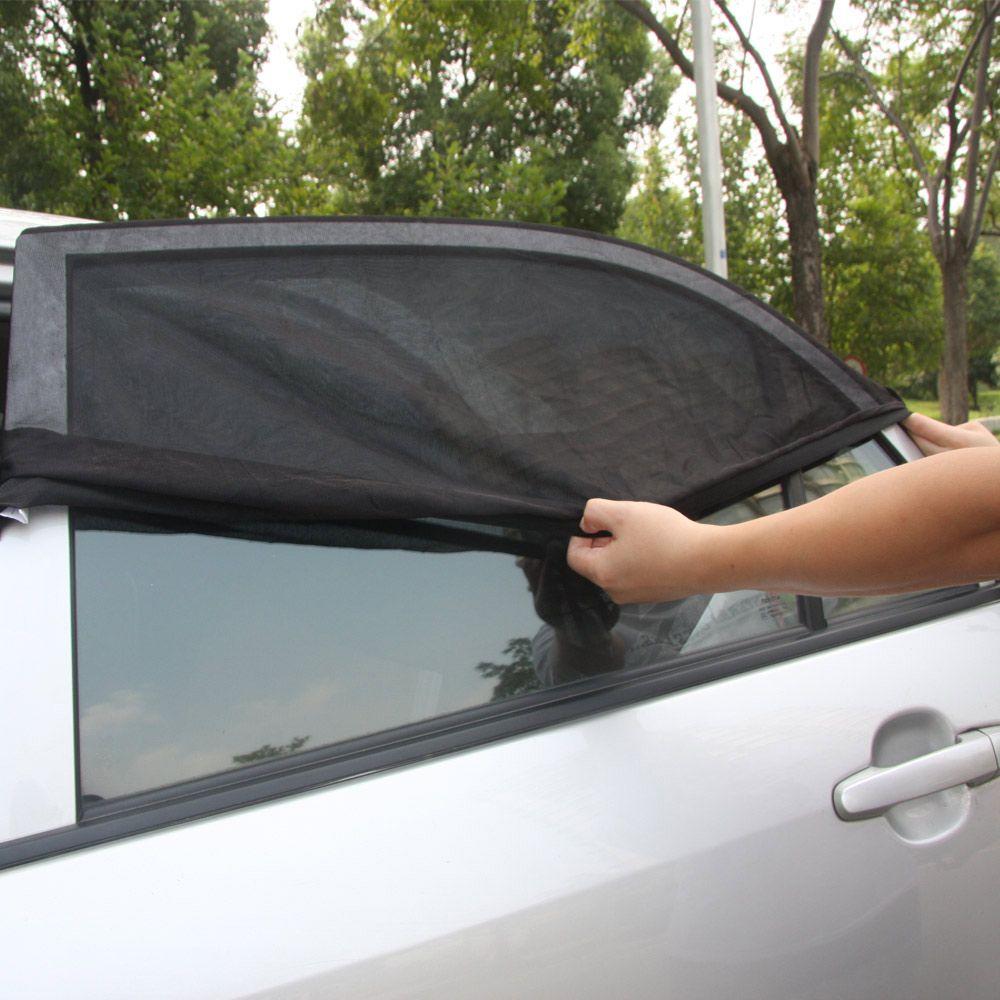 2Pcs Car Side Rear Window Visor Shade Mesh Cover Shield Sun Shade UV Protector M