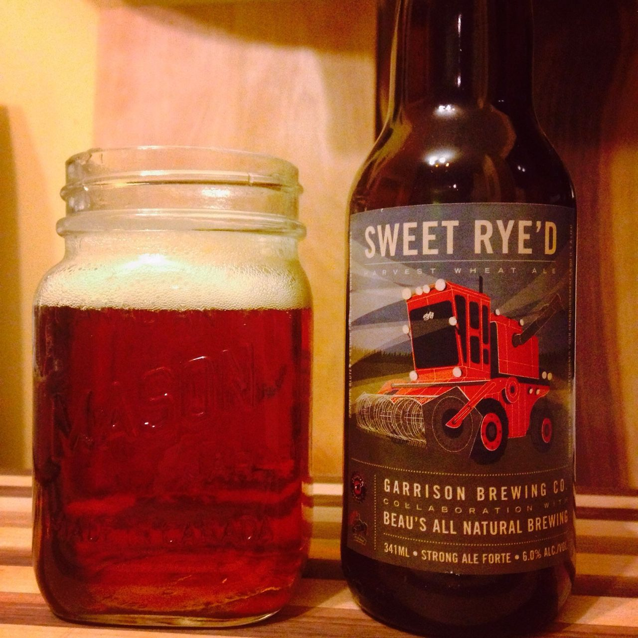 4 Sweet Rye D Harvest Wheat Ale Well Balanced Red And A Bit Wheaty Sweet Slightly Malty But Decent Bitter Crisp Finish This Collaboration Between Ga Beer