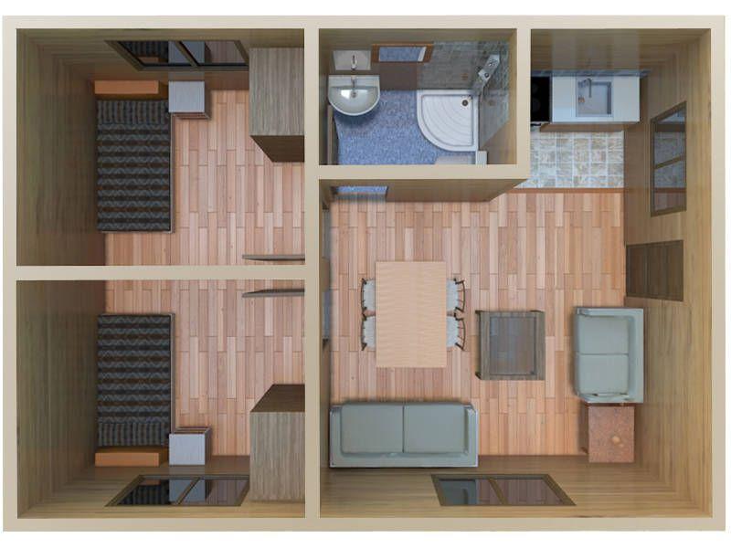 Vista 3d modelo cadiz casas de madera peque as pinterest - Casas de madera pequenas ...