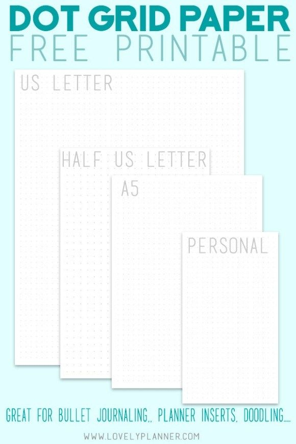 Free Printable Dot Journal Pages