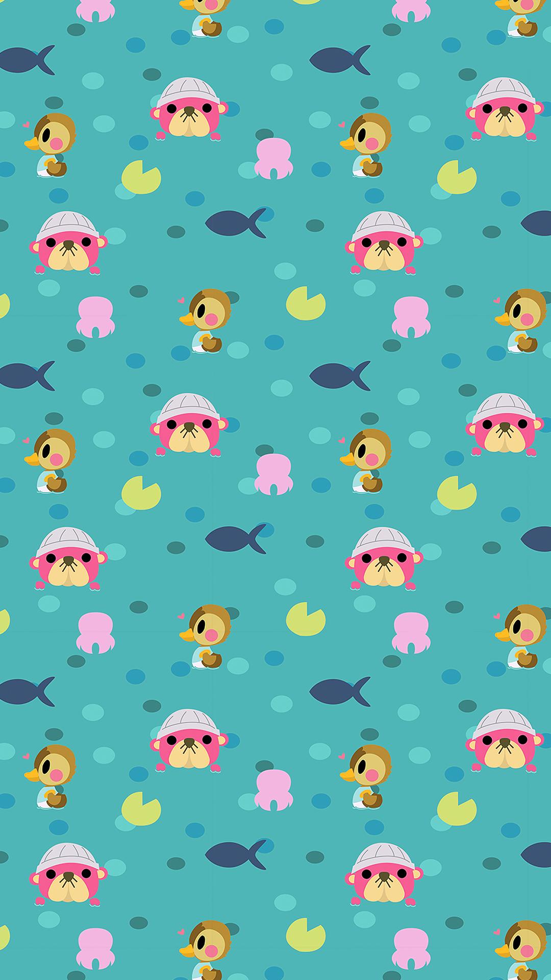 Animal crossing cute wallpaper 1080 x 1920 HD (anime