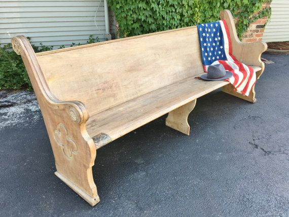 Miraculous Antique Church Pew 1982 Oak Church Pew Large Wood Church Caraccident5 Cool Chair Designs And Ideas Caraccident5Info