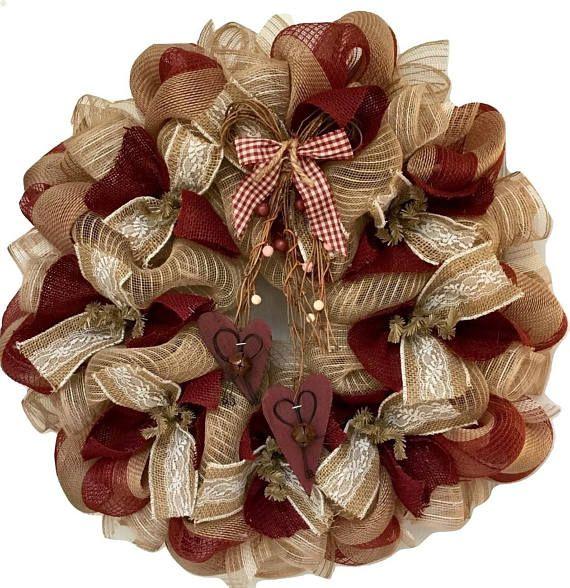 Deco Mesh Rose Wreath Tutorial