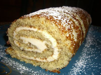 The Cutting Edge of Ordinary: Banana Roll Cake. http://thecuttingedgeofordinary.blogspot.com/2008/01/banana-roll.html