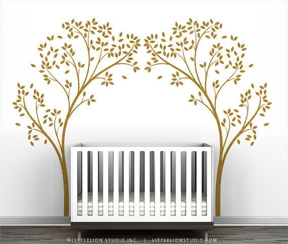 Gold Tree Canopy Portal Wall Decal By Leolittlelion On Etsy