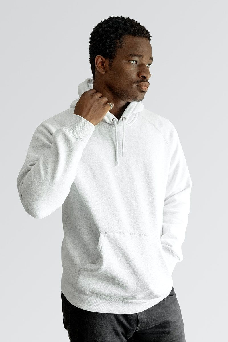 Download Download Premium Illustration Of Men S White Hoodie Mockup Sweater Psd White Hoodie Men Hoodie Mockup White Hoodie