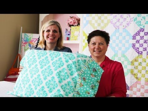How to Make a Standard Pillowcase using Dilly Dally Pillowcase Pattern by Me \u0026 My Sister