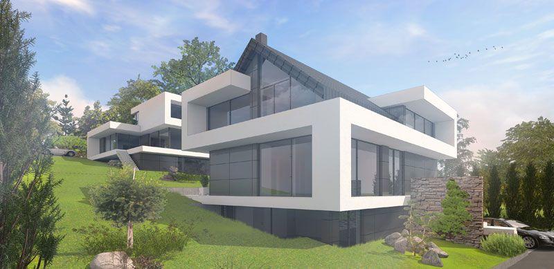 Architektenhaus Satteldach in moderner Architektur bauen | Suche ...