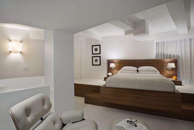 schlafzimmer ideen designer einrichten holz rahmen bett weiß - schlafzimmer ideen bilder designs