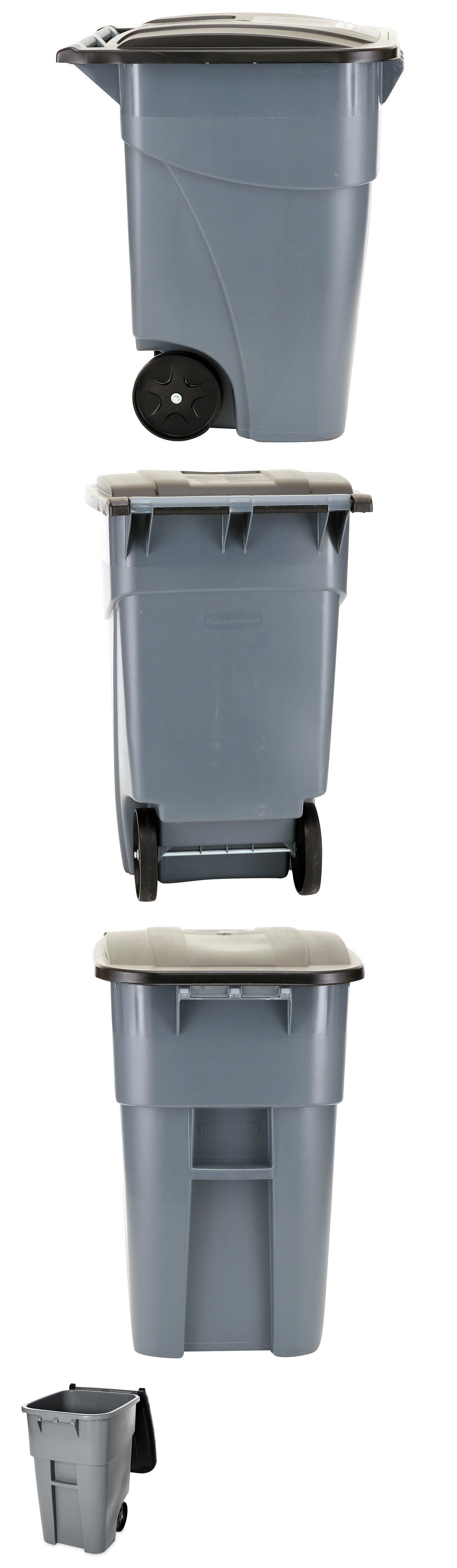 trash cans and wastebaskets 20608 large trash garbage can commercial outdoor container rubbermaid plastic 50 - Commercial Garbage Cans