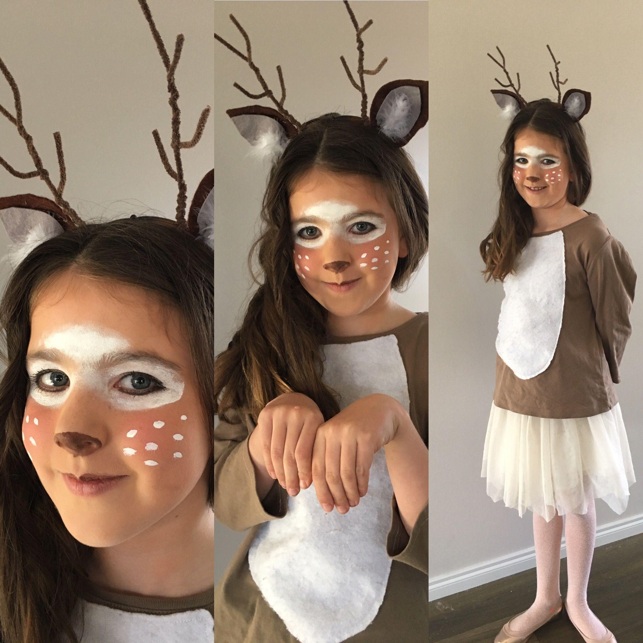 Deer costume for Halloween.