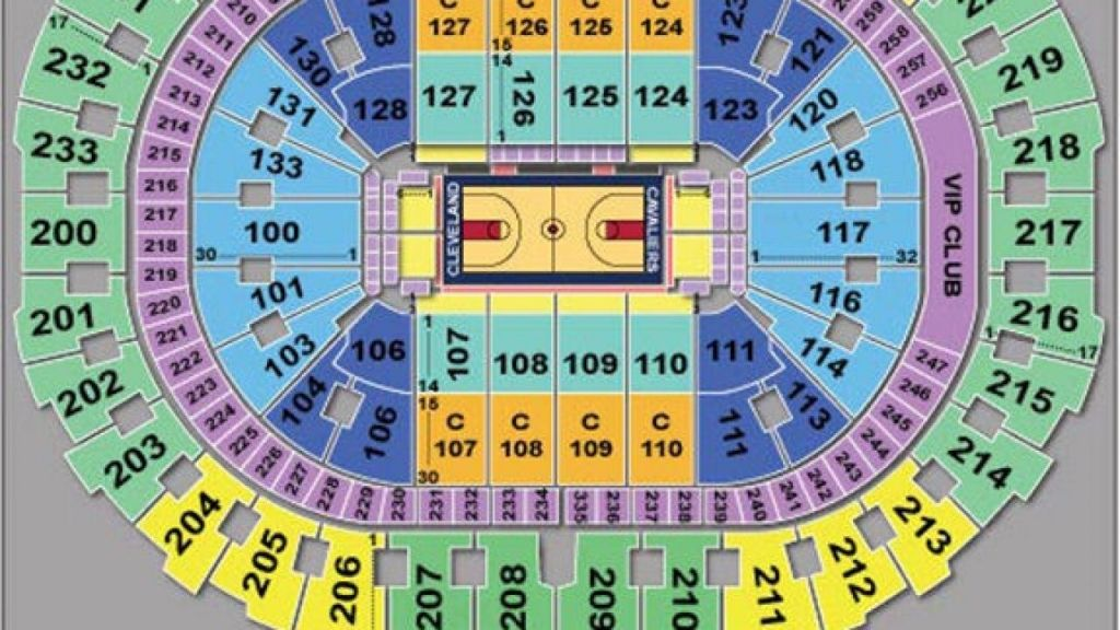 The Stylish Quicken Loans Seating Chart Quicken Loans Arena Seating Charts Quicken Loans