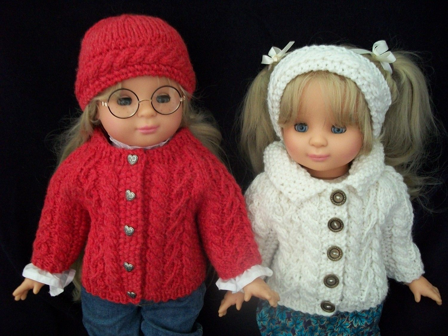 18 inch Doll Knitting Pattern All Over Cable Raglan Cardigan PDF ...