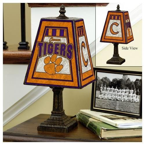 Special Offers - Clemson 14 Art Glass Table Lamp - In stock & Free Shipping. You can save more money! Check It (April 14 2016 at 09:27AM) >> http://tablelampusa.net/clemson-14-art-glass-table-lamp/